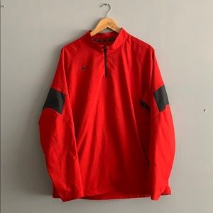 Red Nike performance fleece